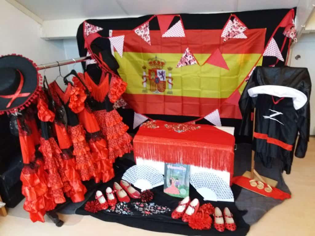 Danseressen dansen Flamenco